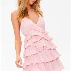 Forever 21 Tiered Pleated Ruffle Dress